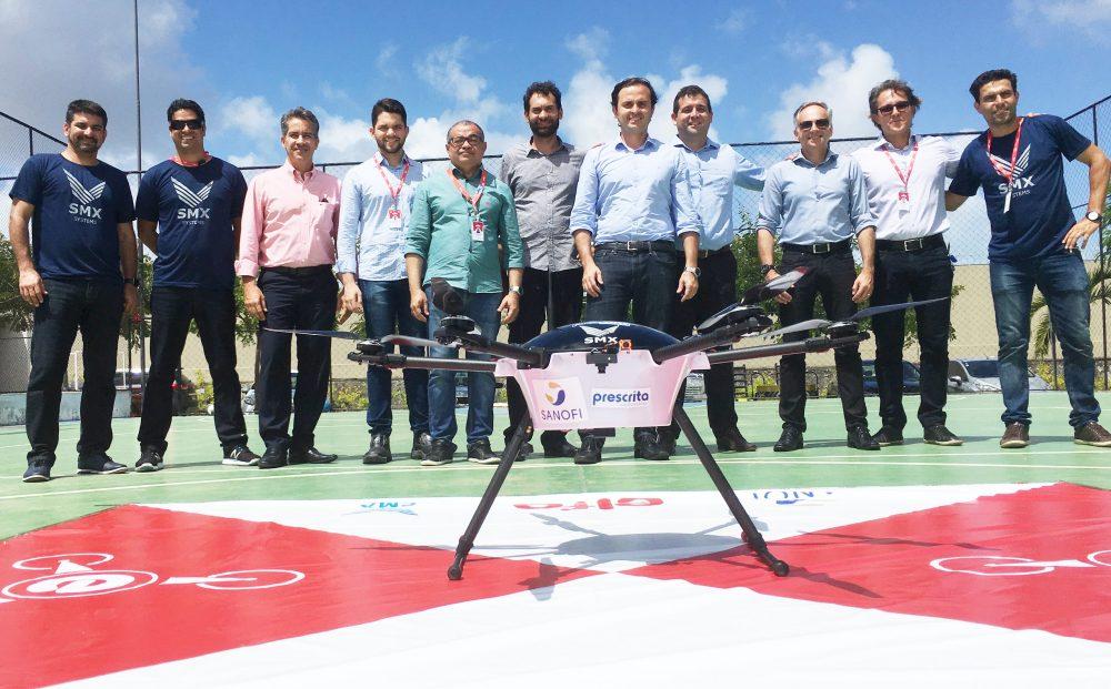 Grupo Elfa e Sanofi realizam o primeiro teste para entregas futuras com o uso de drones no Brasil